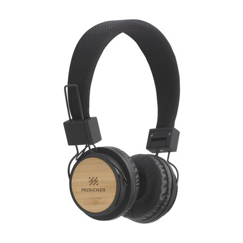 Eco bamboo wireless headphone